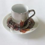 Ceramika - druk - kubek na podstawce