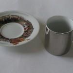Ceramika - druk - kubek obok podstawki