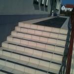 Kopalnia Soli Wieliczka - Warzelnia - maty antypoślizgowe, zabezpieczenie schodów
