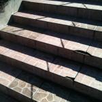 SM Kabel - zejście dla pieszych - schody przed naprawą