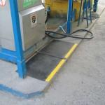 Stacja paliw LPG Kraków - ul. Skośna - mata antypoślizgowa - oznakowanie wysepki